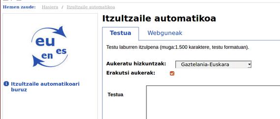 Euskarazko itzultzaile automatikoaren datubase lexikoak askatuta