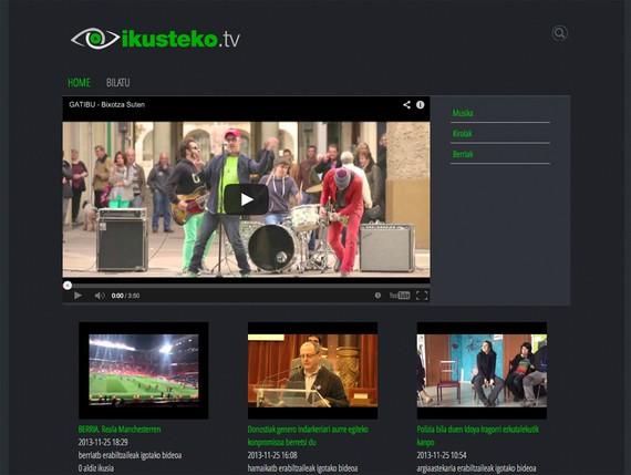 Ikusteko.tv euskarazko bideoen sareko ikusgela abian da