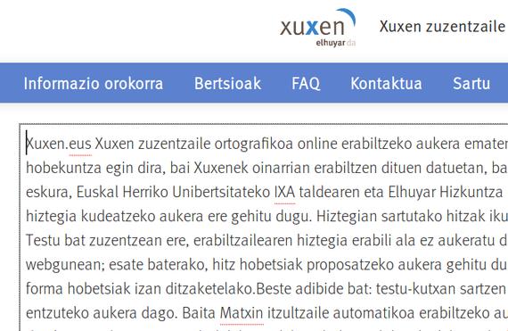 Xuxen euskarazko zuzentzaile ortografikoa berritua sarean
