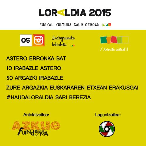 Loraldia, adieraziko dugu Instagramen zer den euskal kultura?