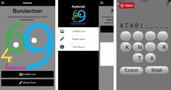 Zenbait aplikazio aurkezten: Ulermenapp, Jorrokak, Kirolapp eta Burulantzen