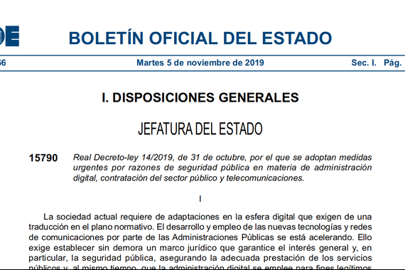 """Interneteko """"dekretu txinatarra"""" onartu du Espainiako Kongresuak"""