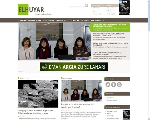 Elhuyar aldizkariak webgunea berritu du
